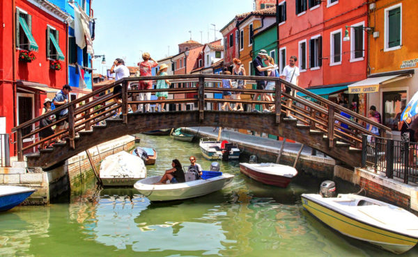 See glass masters at work in a Murano factory, explore the merle shops on the colourful island of Burano and admire the oldest settlement of the Torcello lagoon.