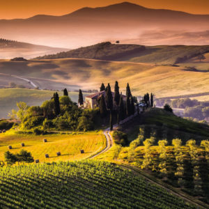 Set off to discover the beauty of the Val d'Orcia, its magnificent landscape in the Tuscan hills, was included in the World Heritage List by Unesco in 2004.