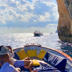 During the journey, we will make stops to admire the beauty and enjoy the freshness of the waters of the Sorrento Peninsula.