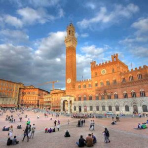 Our day tour continues to the majestic SIENA, famous for its splendid examples of Gothic architecture and the traditional horse race of the Palio.