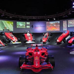 An incredible tour that will take you inside the Ferrari world, visit of the Ferrari Museum in Maranello, then a guided tour by bus of Fiorano racetrack