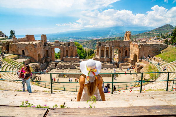 Taormina, one of the best-known cities of Sicily, one of the most visited in Italy, rises 205 meters above the Ionian Sea and benefits from an exceptional climate and geographical position.